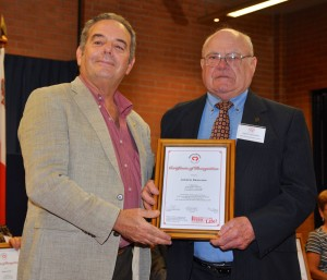 Joseph Deguara receiving the Certificate from Prof Stephen Gatt